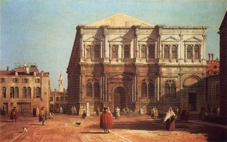 Paintings Reproductions Canaletto, Giovanni Antonio Canal Scuola di San Rocco, 1730