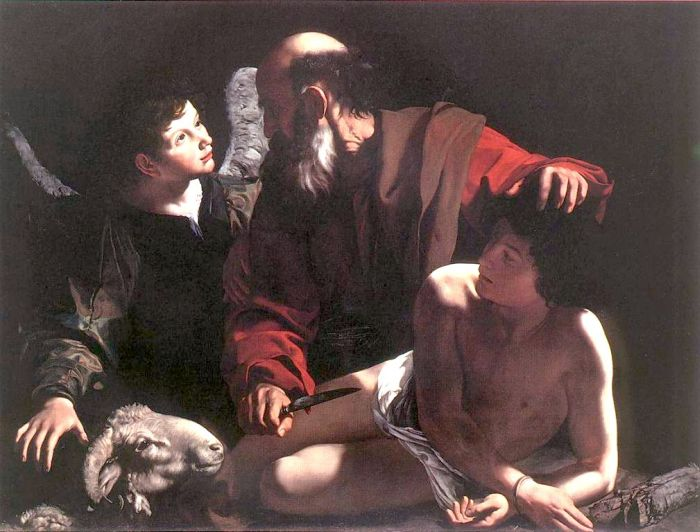 Michelangelo Merisi da Caravaggio Reproductions-Sacrifice of Isaac, 1596