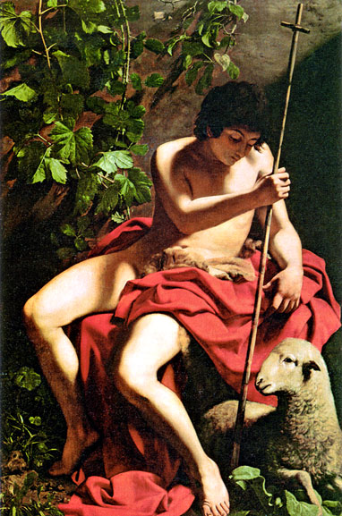 Paintings Reproductions Caravaggio, Michelangelo Merisi da John the Baptist, 1597 - 1598