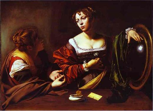 Paintings Reproductions Caravaggio, Michelangelo Merisi da The Conversion of Mary Magdalen, 1598