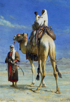 Carl Haag Reproductions-A Bedoueen Family in Wady Mousa Syrian Desert