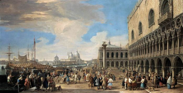 Luca Carlevaris Reproductions-Venice: A View of the Molo, 1710
