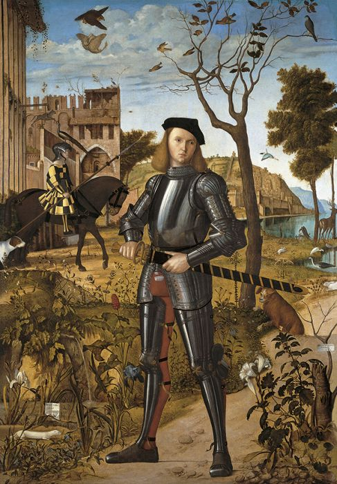 Paintings Reproductions Carpaccio, Vittore Young Knight, 1510