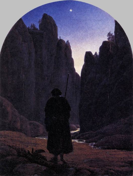 Carl Gustav CarusReproductions-Pilgrim in a Rocky Valley, 1820