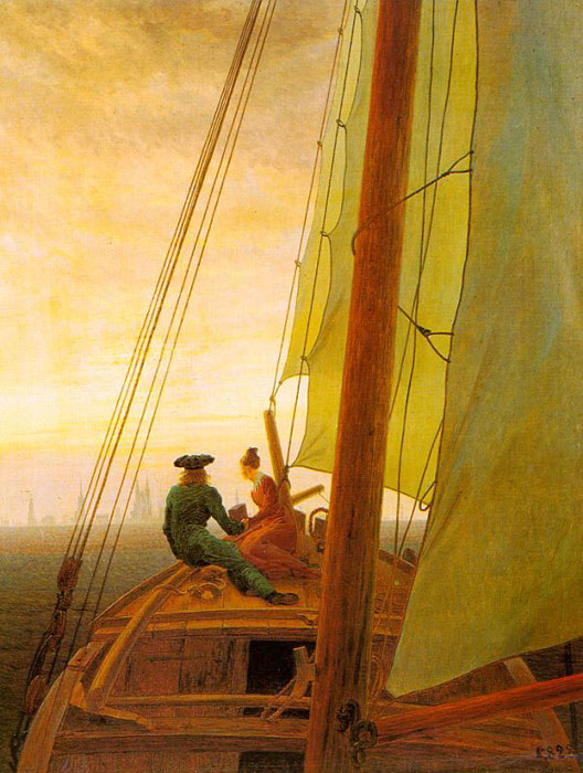Caspar David Friedrich Reproductions-On board a Sailing Ship
