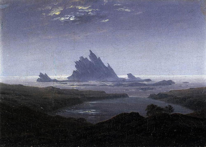 Caspar David Friedrich Reproductions-Rocky Reef on the Sea Shore, 1824
