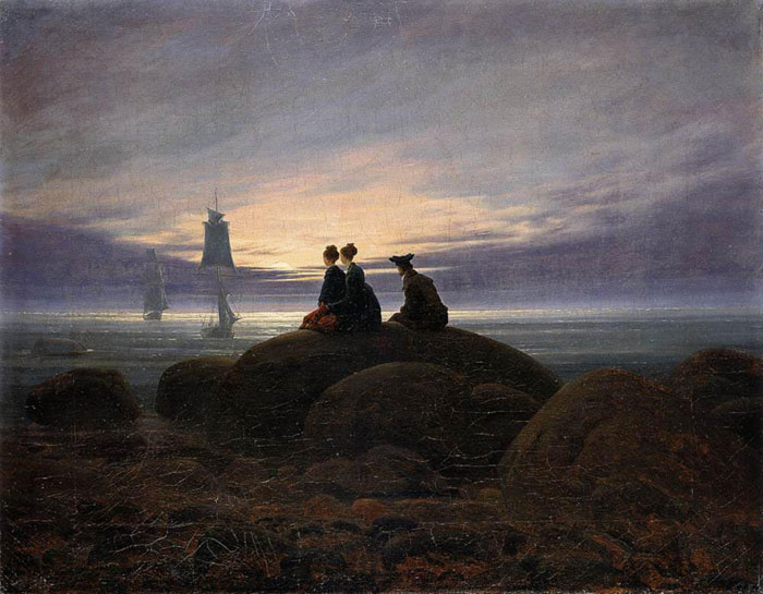 Caspar David Friedrich Reproductions-Moonrise by the Sea, 1822