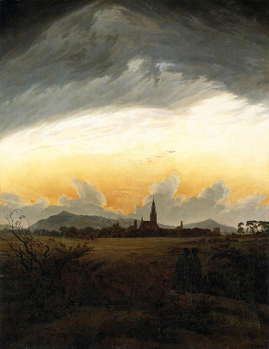 Caspar David Friedrich Reproductions-Neubrandenburg, 1817