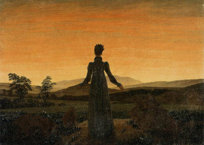 Caspar David Friedrich Reproductions-Woman before the Rising Sun (Woman before the Setting Sun), 1818-1820
