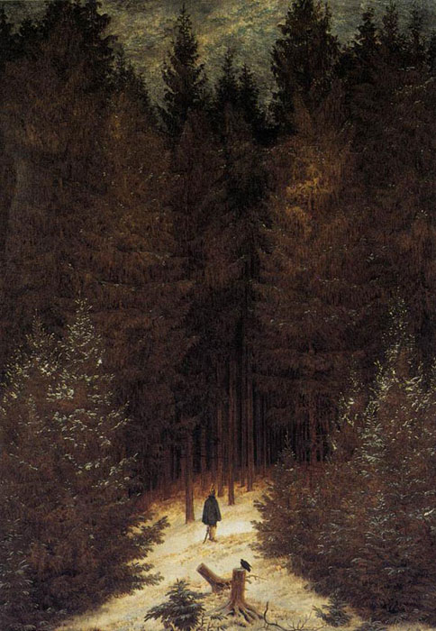 Caspar David Friedrich Reproductions-The Chasseur in the Forest, 1814