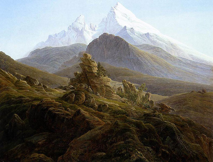 Caspar David Friedrich Reproductions-The Watzmann, 1824-1825