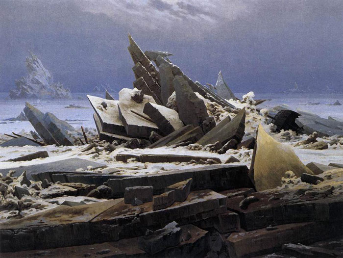 Caspar David Friedrich Reproductions-The Sea of Ice, 1824