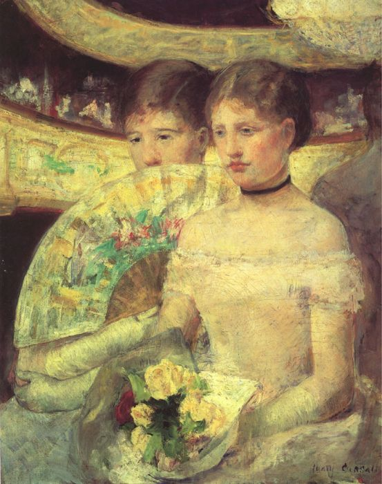 Mary Cassatt Reproductions- The Loge , 1880