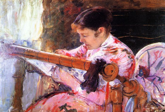 Mary Cassatt Reproductions-Lydia at the Tapestry Loom