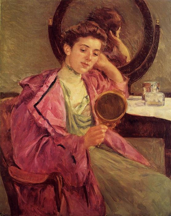 Paintings Reproductions Cassatt, Mary Woman at Her Toilette, 1909