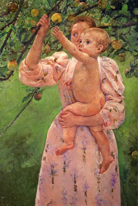 Mary Cassatt Reproductions- Baby Reaching For An Apple , 1893
