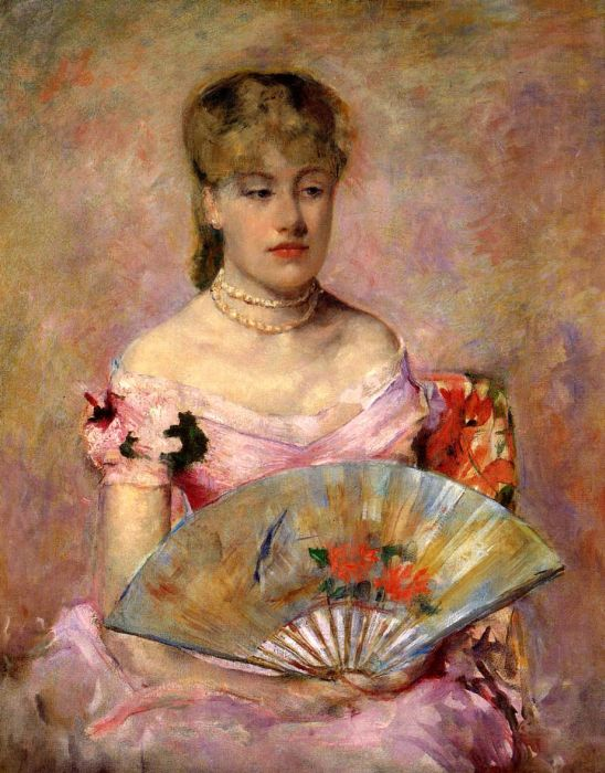 Mary Cassatt Reproductions-Lady with a Fan, 1880