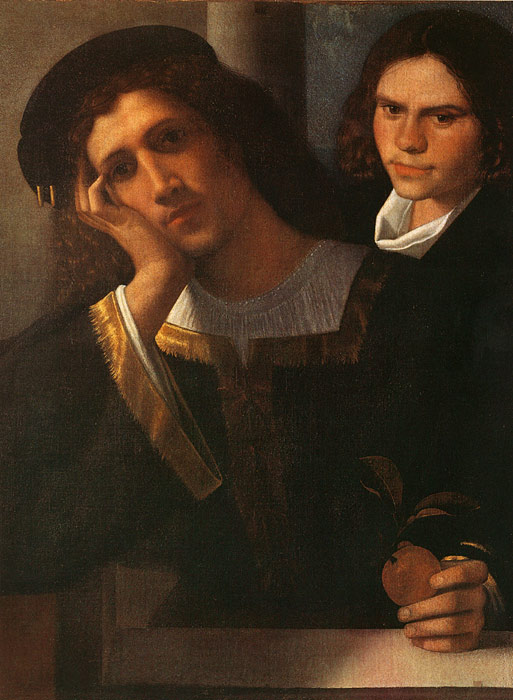 Castelfranco Veneto Giorgione Reproductions-Double Portrait (attributed to Giorgione), c.1502