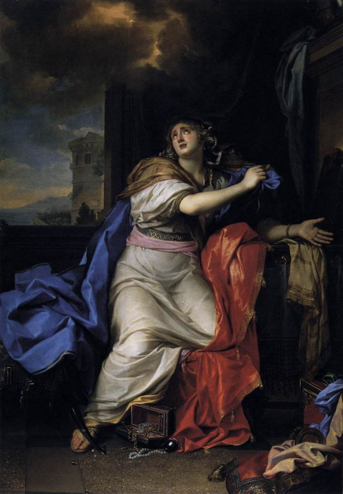 Paintings Reproductions Le Brun, Charles The Repentant Magdalen, 1655