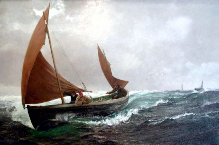 Paintings Reproductions Hemy, Charles Napier Running for Home