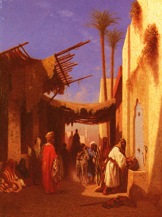 Paintings Reproductions Frere, Charles Theodore Street In Damascus and Street In Cairo: A Pair of Painting (Pic 1)