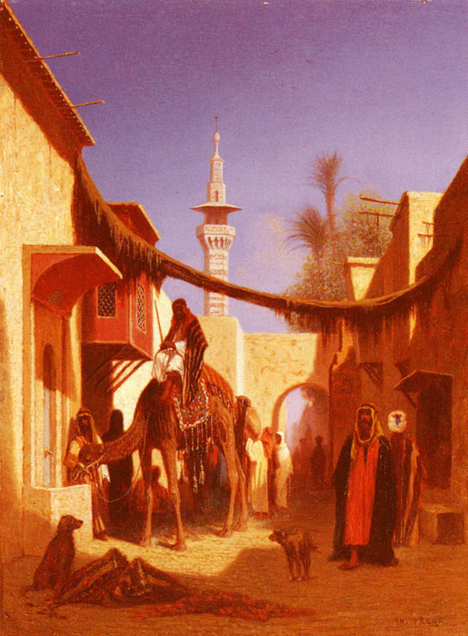 Charles Theodore Frere  Reproductions-Street In Damascus and Street In Cairo: A Pair of Painting (Pic 2)