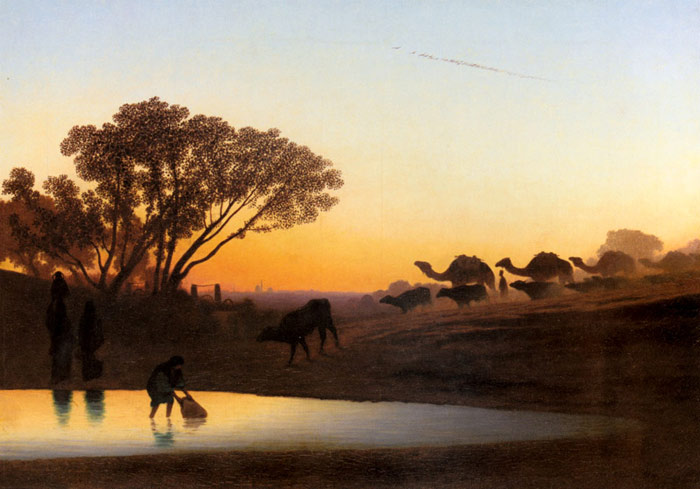 Paintings Reproductions Frere, Charles Theodore Sunset On The Nile
