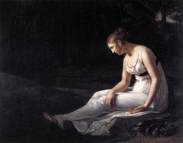 Paintings Reproductions Charpentier, Constance Melancholy, 1801