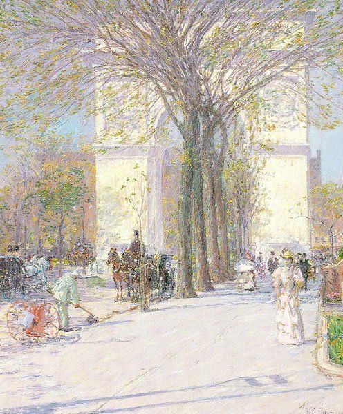Childe Hassam Reproductions-Washington Arch, Spring, c. 1893