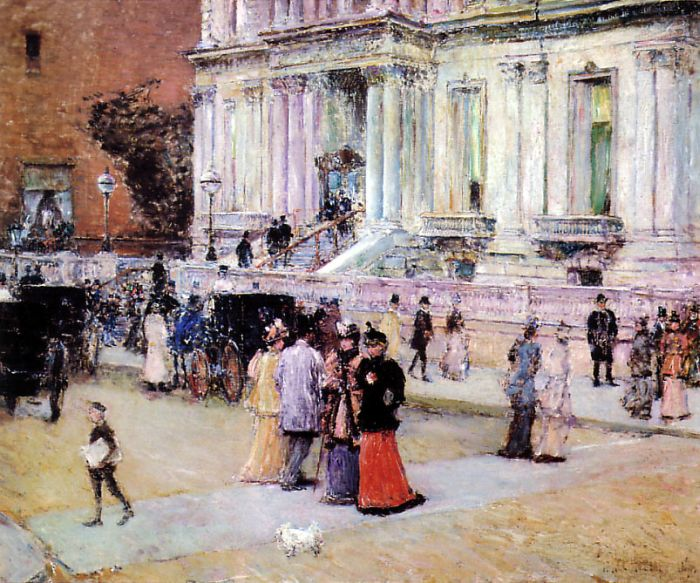 Childe Hassam Reproductions-The Manhattan Club (The Stewart Mansion), 1891