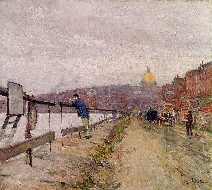 Childe Hassam Reproductions-Charles River and Beacon Hill, 1892