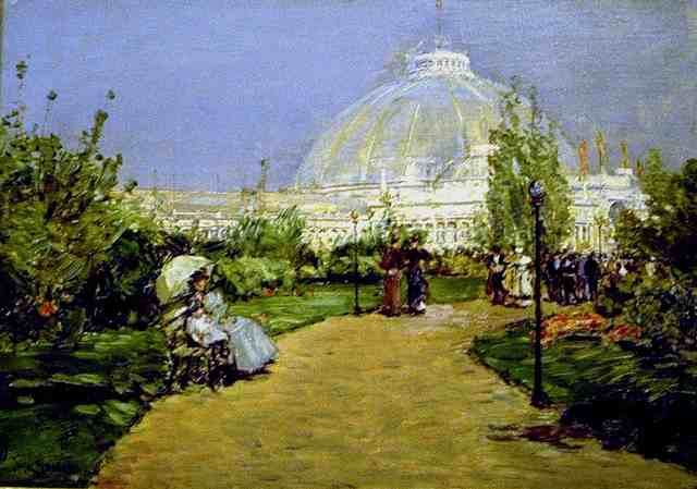 Childe Hassam Reproductions-World' Fair ( Crystal Palace ) , Chicago