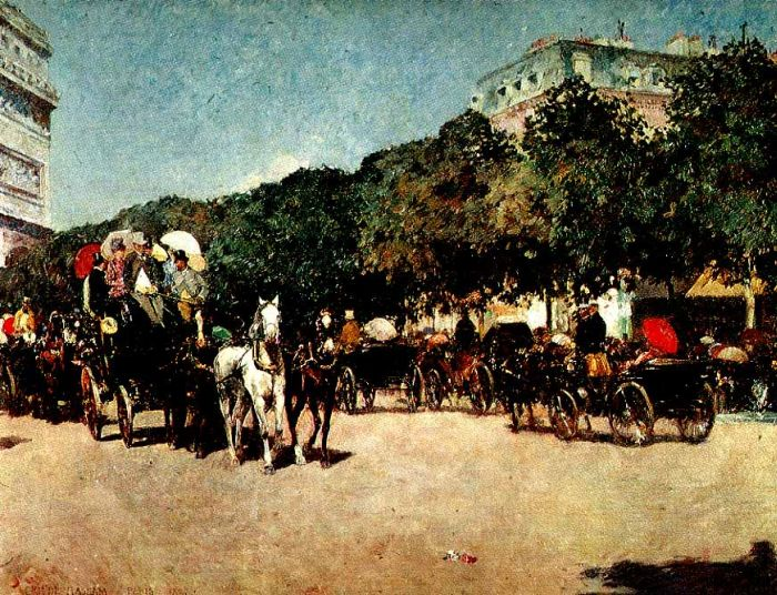 Childe Hassam Reproductions-Grand Prix Day, 1887