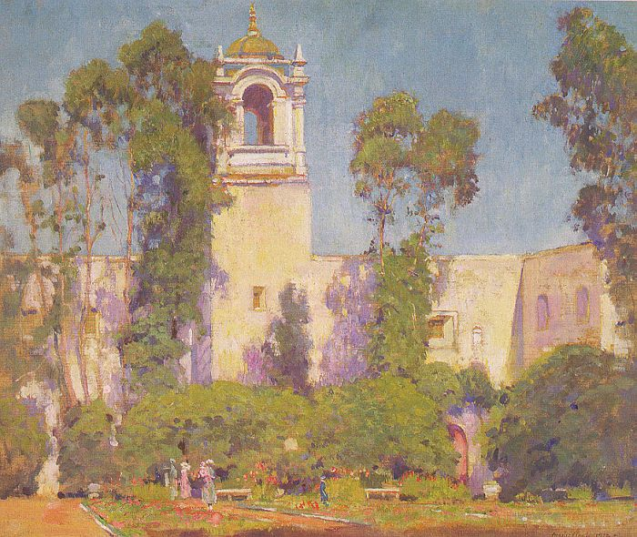 Paintings Reproductions Clark, Alson Skinner The Court of Montazuma, 1922