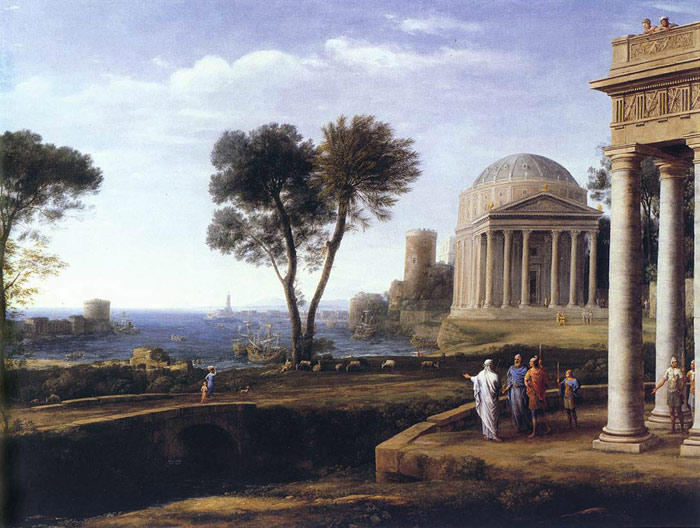 Claude Lorrain Reproductions-Landscape with Aeneas at Delos, 1672