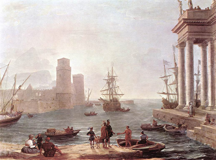 Claude Lorrain Reproductions-Departure of Ulysses from the Land of the Feaci, 1646
