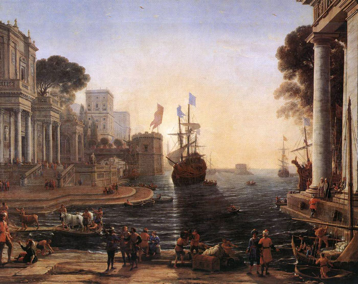 Claude Lorrain Reproductions-Ulysses Returns Chryseis to her Father, 1648