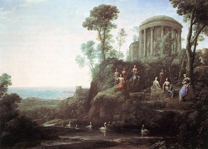 Paintings Reproductions Lorrain, Claude Apollo and the Muses on Mount Helion, 1680