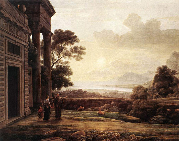Claude Lorrain Reproductions-The Expulsion of Hagar, 1668