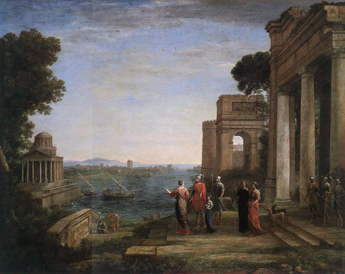 Claude Lorrain Reproductions-Aeneas Farewell to Dido in Carthage, 1676