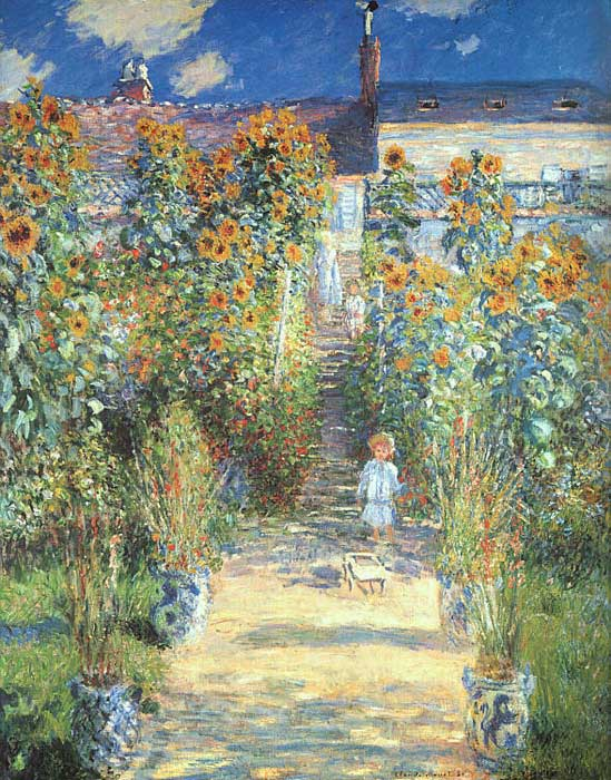 Paintings Reproductions Monet, Claude Oscar The Artist's Garden at Vetheuil