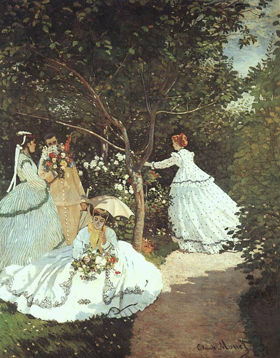 The women in the Garden, 1866-1867 Monet, Claude Oscar Painting Reproductions