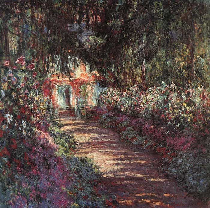 Paintings Reproductions Monet, Claude Oscar The Garden In Flower, 1900