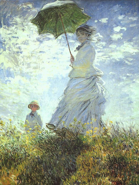 Claude Oscar Monet  Reproductions-Woman with a Parasol, 1875
