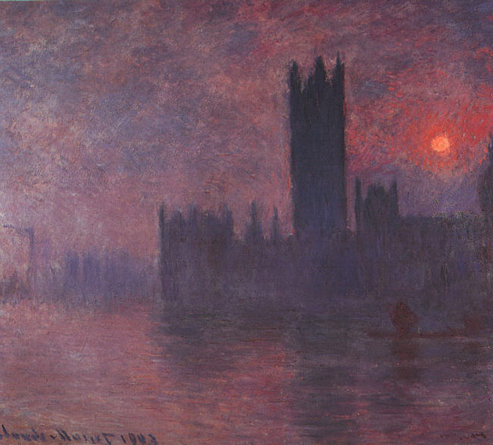 Claude Oscar Monet  Reproductions-London: Houses of Parliament at Sunset
