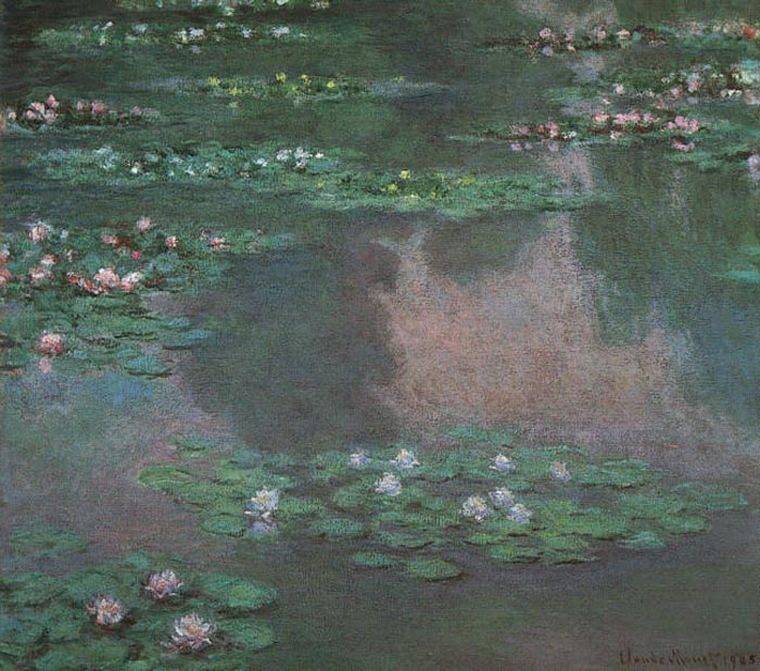 Claude Oscar Monet  Reproductions-Water Lillies I