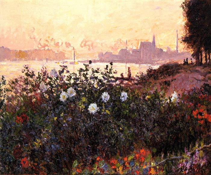 Paintings Reproductions Monet, Claude Oscar Argenteuil, Flowers by the Riverbank, 1877
