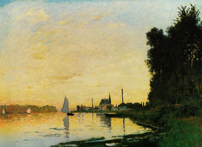 Claude Oscar Monet  Reproductions-Argenteuil, Late Afternoon , 1872