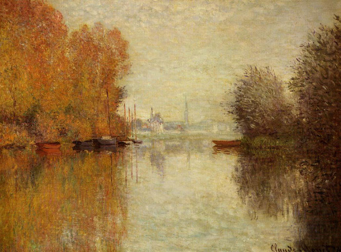 Paintings Reproductions Monet, Claude Oscar Autumn on the Seine at Argenteuil , 1873
