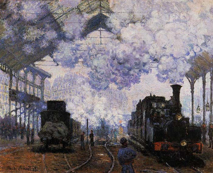 Paintings Reproductions Monet, Claude Oscar Arrival at Saint-Lazare Station , 1876